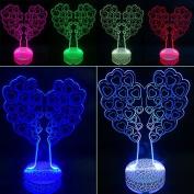 3D Night Lamp Heart Shape Tree
