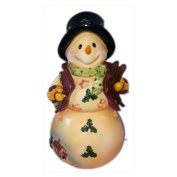 Home Garden Party Skiing Snowman Nightlight