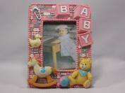 Baby Girl 3D Pink Frame {Teddy}
