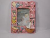 Baby Girl Pink Frame 3D {Boat}