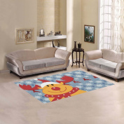 JC-Dress Area Rug Christmas Deer Snow Modern Carpet 1.5mx0.9m