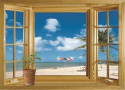 audiosharp 3D Beach Window View Removable Wall Stickers Vinyl Decal Home Decor DIY