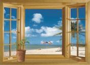 audiosharp 3D Beach Window View Removable Wall Stickers Vinyl Decal Home Decor DIY
