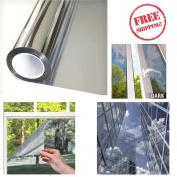 Mirror Window Film One Way Silver Privacy Glass Sticker Reflective 30cm x 7.3m