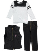 "U.S. Polo Assn. Baby Girls' ""Cosy Textiles"" 3-Piece Outfit"