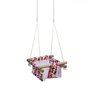 Pellor Baby Toddler Canvas Swing Seat Hammock Chair Indoor Small Swing Hanging Cradle Trapeze
