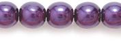 Preciosa Ornela Imitation Round Glass Pearl, 6-mm, Lustre Dark Amethyst on Crystal, 100-Pack