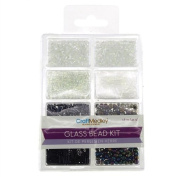 Firefly Imports FMC000BD705A Loose Glass Beads Kit, 45g, Black/White