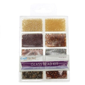 Firefly Imports FMC000BD705C Loose Glass Beads Kit, 45g, Nuggets