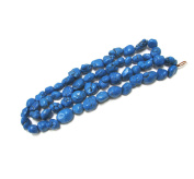 Linpeng Chalk Turquoise Stone Beads Strand, 80cm , Blue