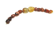Linpeng Agate Stone Beads Strand, 18cm , Red
