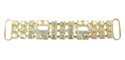 Mode Beads Rhinestone Connector, 6.4cm , Crystal/AB Gold Baguette