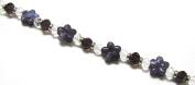 Linpeng Flower Shaped Glass Bead Strand, Lavender