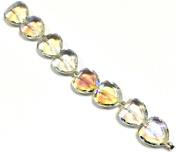 Linpeng Opal Faceted Heart Beads Strand, 18cm
