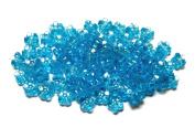 Linpeng Plastic Flower Shaped Beads, Blue