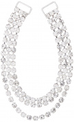 Mode Beads 3-Row Hanging Rhinestone Connector, 18cm , Crystal/Silver