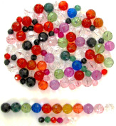 Linpeng 062014-MIX Faceted Acrylic Beads, Multi Colour