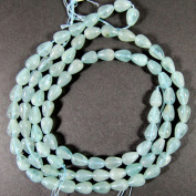 Elan Beads Aquamarine Teardrops Beads, 7 by 10mm