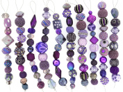 Jesse James Strand Beads, Assortment Purple, Set of 10