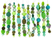 Jesse James Strand Beads, Assortment Green, Set of 10