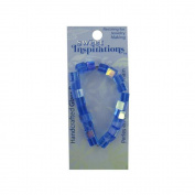 Kole CN422 Glass Square Beads, Blue