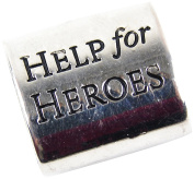 "Midwest Design Imports ""Hope for Heroes"" Paracord Charm, Silver"
