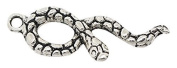 AVBeads Snake Charms Antique Silver Zinc Alloy Charms 35mm x 11mm, 2 Piece