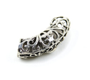 Midwest Design Imports Swirled Slider Paracord Charm, Silver
