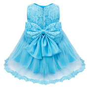 iEFiEL Baby Girls' Lace Flower Princess Wedding Party Pageant Bridesmaid Tutu Dresses