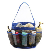 AnGeer Hanging Toiletry and Bath Organiser with 8 Storage Compartments Shower Organiser, Mesh Shower Caddy