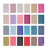10 Pieces Assorted Colours Women 4-Hook 3 Rows Spacing Bra Extender Strap
