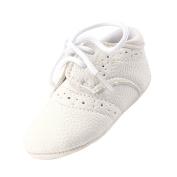 Babemoon PU Leather Toddler Baby Crib Shoes Non-Slip Boys Girls Lace Shoes