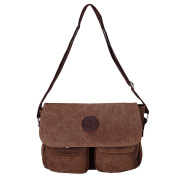 MultiWare Messenger Bags Mens Vintage Canvas Leather Satchel School Military Shoulder Bag
