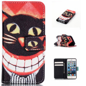 iPhone 5 Case,iPhone 5S Case,iPhone SE Case [With Tempered Glass Screen Protector], Qimmortal(TM) Anti Scratch Flip Soft Silicone Back Cover Case ,Stylish Printed Cute Colourful Pattern Magnetic Detachable Premium PU Leather Stand Function Folding Magn ..
