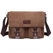Mens Retro Canvas Leather Messenger Bag Travel Shoulder Bags Crossbody Sports Vintage Pack Retro Side Bag Handbag Hiking Camping Bag