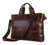 Jsix Mens Genuine Leather Handbags Briefcases Shoulder Bag Messenger