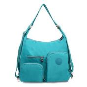 Multi Pocket, Lightweight, Small Nylon Backpack / Shoulder Bag