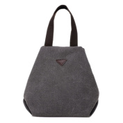 iTECHOR Simple Design Solid Colour Shoulder Bag Women Tote Handbag - Grey