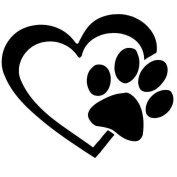 Boldion(TM) 1 PC Fashion Design HEART with DOG PAW Puppy Love Decal Window Sticker for Cars,Walls Car Styling