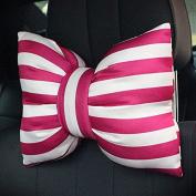 Calcifer® 1 pcs Brand New Fashion Comfortable Memory Foam Head Massage Bowknot Shape Car Neck Pillow Car Cushion Headrest Seat # CP002