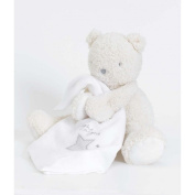 Silver Cloud Teddy Bear With Muslin Comforter
