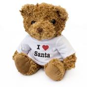 NEW - I LOVE SANTA - Teddy Bear - Cute Soft Cuddly - Gift Present Christmas Xmas