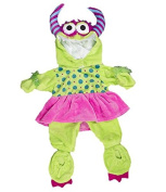 """Girlie"" Green Monster Costume 16"" (40cm) Teddy Clothes Outfit For Build a Bear"