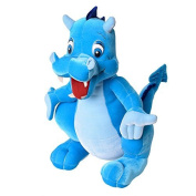 Cuddly Toy Plush Animal Cloth Animal Dragon Dragon standing in turquoise/Blue 75 cm