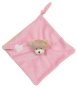King Bear 3384200 - Tray 25 x 25 cm - SOFT TOY LITTLE BEAR - PINK