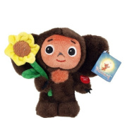 18 CM Cheburashka with Sunflower Talking Plush Toy 7""