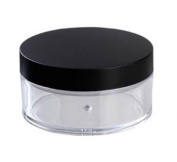Clear 50g 50ml Plastic 2 Pcs Powder Puff Container Case Makeup Cosmetic Jars Face Powder Blusher Storage Box With Sifter Lids