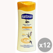 Set of 12 MANTOVANI Bath 400 Ml. VANILLA soaps and cosmetics