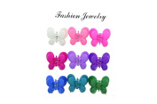 9 Multicolour Hair Clip with Butterfly on Top