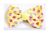 Great Ud Fabric Lace N & # X153 Size Hair Barrette - Yellow